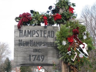 Hampstead town sign and Senior Care Hampstead